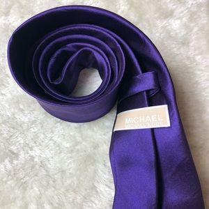 Michael Kors   Purple Silk Tie